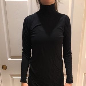 Extremely lightweight mock neck long sleeve shirt